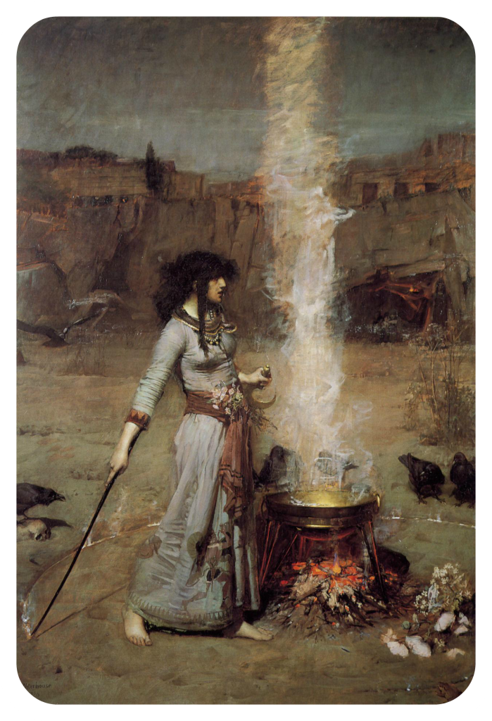 John_William_Waterhouse_-_Magic_Circle_white