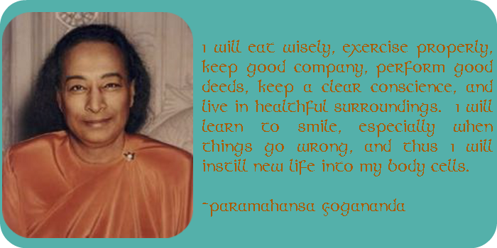 Paramahansa Yogananda_orange text_wide_blue_round