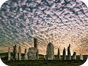 Rounded_Calanais Stone Circle, Isle of Skye